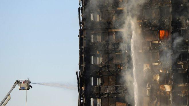 Londonda 24 mərtəbəli bina yanıb