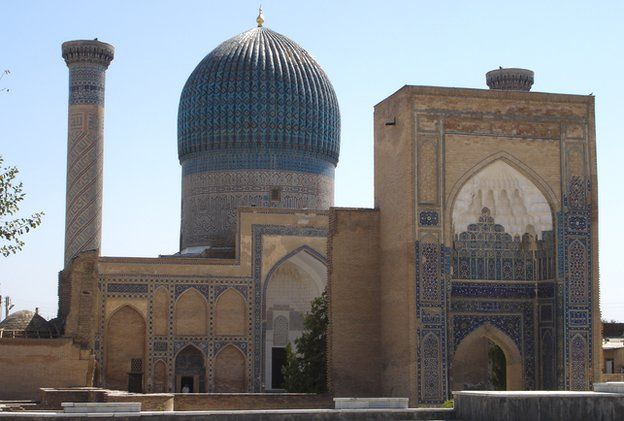 Historic building in the Uzbek city of Samarkand