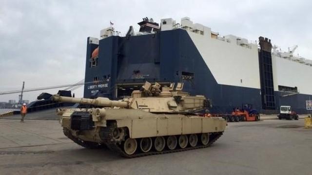 ABŞ tankları Gürcüstana daxil oldu