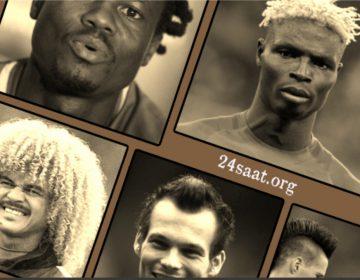 Maraqlı saç düzümü olan futbolçular