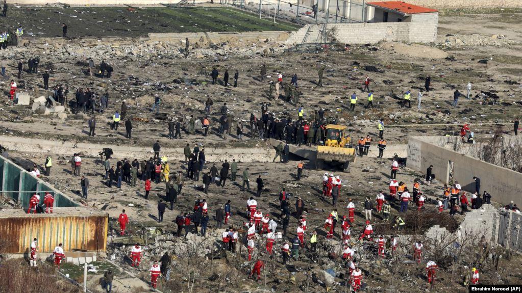 Ukrayna təyyarəsinin qəzaya düşdüyü ərazi, İran, 8 yanvar, 2020
